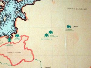 """Музей Армии, Париж. Выставка """"Стратегия Наполеона"""". Карта Русской кампании"""