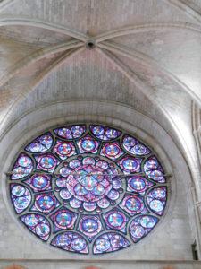 Кафедральный собор Лана. Витраж