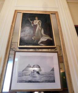 Замок Бретей. Портрет Наполеона.