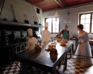 Замок Бретей. Кухня замка